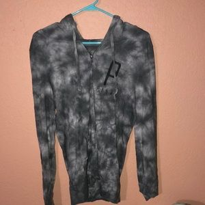 Women's long sleeve PINK zip up hoodie size medium